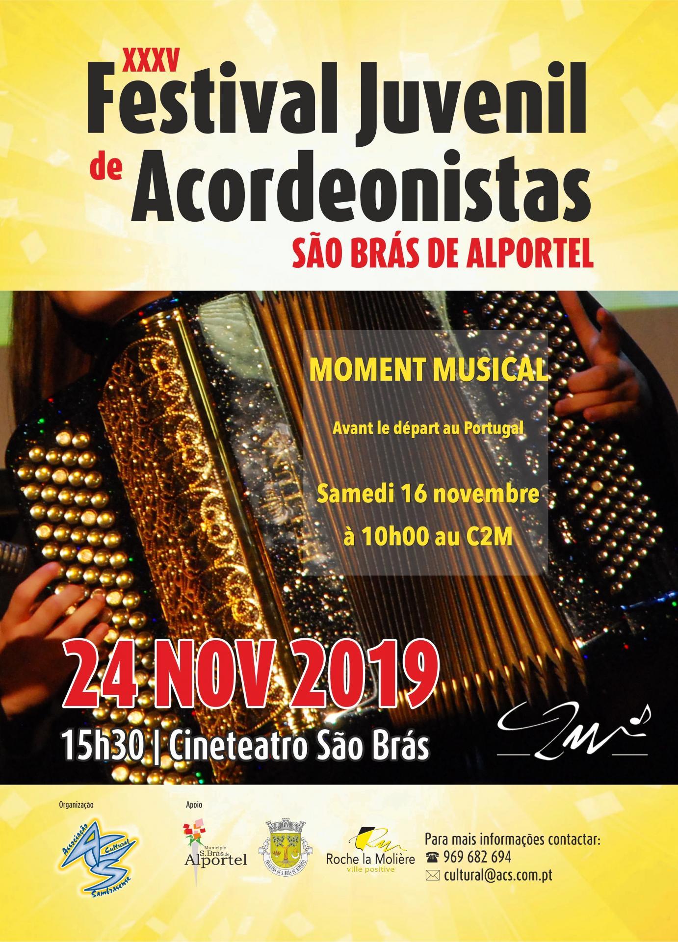 Affiche moment musical accordéon