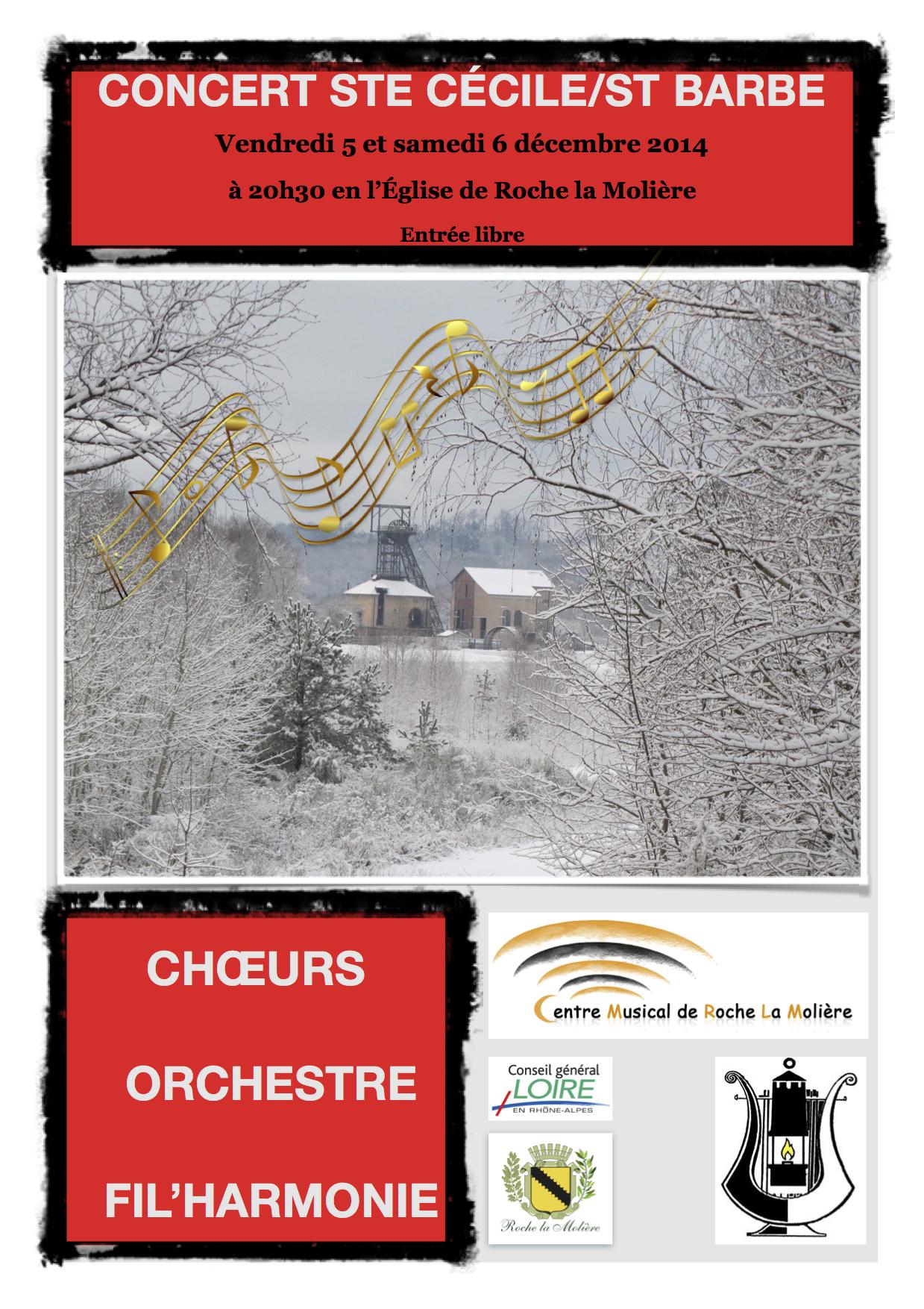 Affiche Ste Cécile 2014
